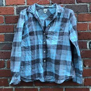 Cotton flannel soft blue